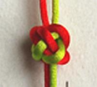 六瓣纽扣结的打法 中国结编织教程