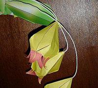 铃兰花的折法 纸花折纸教程