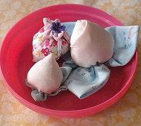 布艺水果制作方法 可爱的布艺桃子和草莓