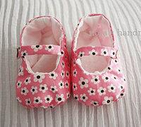 宝宝的小鞋子制作图解 布艺宝宝鞋手工教程(附纸样)