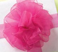 漂亮的蕾丝蝴蝶结缎带花的手工制作教程