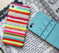 用指甲油diy与众不同的彩虹手机壳