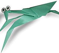 螳螂的手工折纸方法 昆虫折纸教程