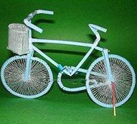 用吸管手工制作精致的自行车工艺品
