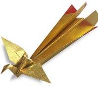 折纸凤凰的折法图解 动物折纸教程