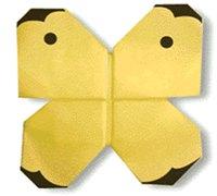 小粉蝶的折法 折纸蝴蝶图解 昆虫折纸教程