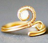 金属线diy精美的旋转戒指 诉说指尖的情感