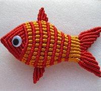 中国结鲤鱼的编织方法