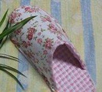 漂亮的布艺拖鞋手工制作图解