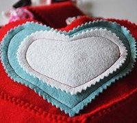 浪漫的爱心礼物袋的手工制作图解