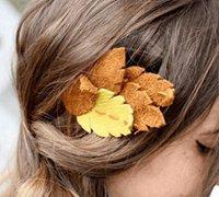 用皮革DIY一款秋意浓浓的树叶头饰