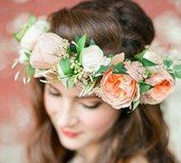 新娘鲜花头饰 鲜花花环diy图解教程