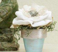清新淡雅的森系布艺花朵装饰小盆景diy图解