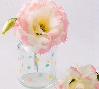 用指甲油手工diy可爱的圆点玻璃瓶