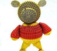 瓦楞纸小熊创意摆件手工制作教程
