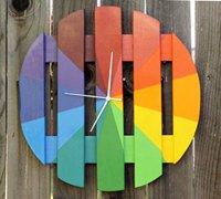 彩虹钟表的手工制作 让时间变成彩色的