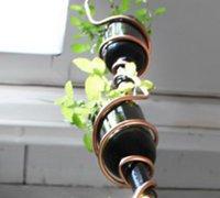 红酒瓶DIY创意悬挂式植物花园 红酒瓶变废为宝