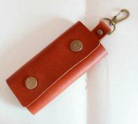 简单的皮革钥匙包手工diy教程