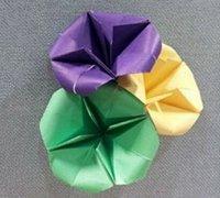牵牛花的折纸方法图解 纸花手工折纸教程