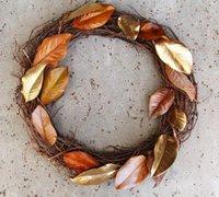 四款秋季风格的植物创意花环手工diy图解
