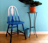 旧椅子变身时尚的颜色渐变椅子 旧家具改造