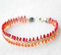 用绳子和串珠制作漂亮的手链