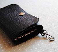 酷酷的黑色皮革钥匙包的手工diy细节图解