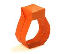 戒指的折纸方法 钻戒的手工折纸教程