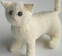 毛巾制作可爱的布艺猫咪 毛巾娃娃diy制作