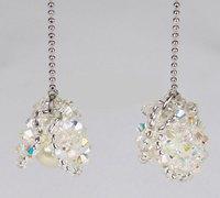 简洁大方的珍珠蚌串珠耳环的diy图解