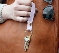 一点小皮革diy一个可爱的钥匙链