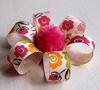 可爱漂亮的丝带花手工制作方法