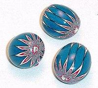 带花纹的软陶珠子手工diy图解教程