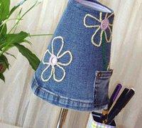 http://www.63diy.com牛仔裤废物利用 牛仔裤DIY个性灯罩
