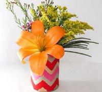 罐头盒DIY精美的花瓶 罐头盒废物利用