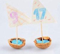 http://www.63diy.com核桃壳变废为宝 diy可爱的小帆船