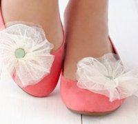 薄纱布片diy漂亮的鞋花 让旧鞋子变新鞋子