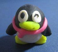 软陶diy超萌的小企鹅 软陶企鹅的做法