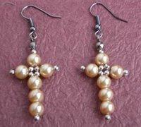 串珠耳环简单制作 手工串珠饰品diy教程