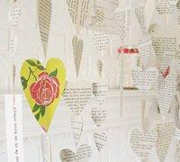 用纸片diy清新美丽的心形创意家居挂饰