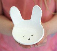 可爱有趣的软陶兔子薄碗diy教程