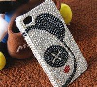 半脸熊镶钻图案个性手机壳DIY图解