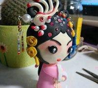 软陶戏曲娃娃的手工制作过程图解(女)