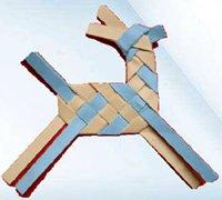 可爱的纸编小鹿 纸条编织小鹿手工图解