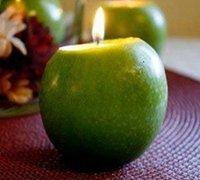 苹果+蜡烛DIY简易的平安祝福小烛台