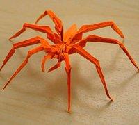 仿真度非常高的折纸蜘蛛视频教程