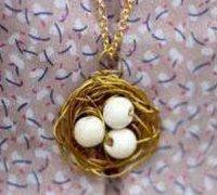 精美时尚的鸟巢项链吊坠创意制作图解