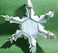 美丽的立体折纸雪花图解教程