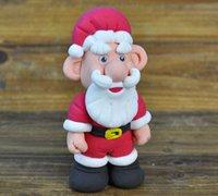 可爱的圣诞老人轻粘土手工教程