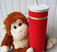 薯片筒废物利用 diy吉祥漂亮的爆竹糖果盒